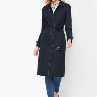 Talbots Piped Trench Coat