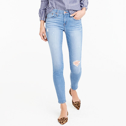 J.CrewTall toothpick jean in Chimney wash