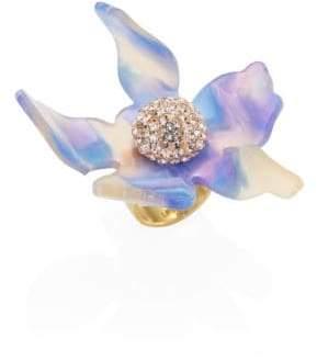 Lele Sadoughi Crystal Lily Ring