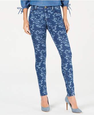 Michael Kors Floral-Print Skinny Jeans, In Regular & Petite Sizes