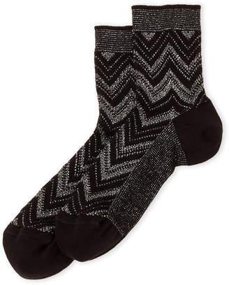 Missoni Lurex Chevron Crew Socks