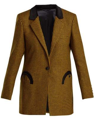 Blazé Milano Blaze Milano - Fair And Square Double Breasted Wool Blazer - Womens - Yellow Multi