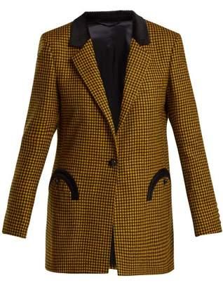 Blazé Milano Blaze Milano - Fair And Square Double Breasted Wool Blazer - Womens - Yellow Multi