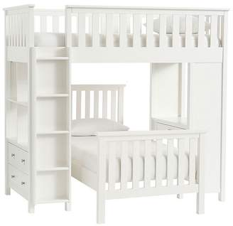 Pottery Barn Kids Elliott Twin Loft Sytem & Twin Bed Set,