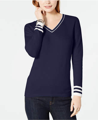 Tommy Hilfiger Cotton V-Neck Sweater