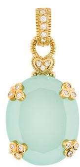 Judith Ripka 18K Chrysoprase & Diamond Pendant