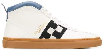 Bally checkered panel hi-tops
