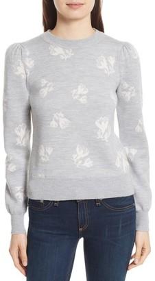 Women's Rebecca Taylor Floral Jacquard Sweater