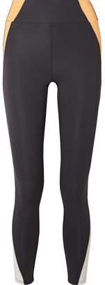 Heroine Sport - Tread Mesh-paneled Stretch Leggings - Dark gray
