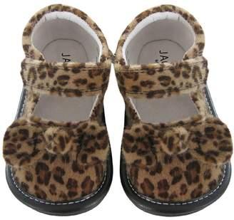 Jack & Lily Leopard Bow Mary Jane - Size 12-18m