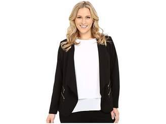 Calvin Klein Plus Plus Size 2 Zipper Jacket w/ Fly Away