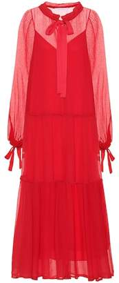 See by Chloe Cotton and silk tiered dress