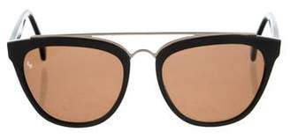 Smoke x Mirrors Tinted Aviator Sunglasses