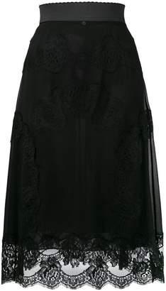 Dolce & Gabbana lingerie midi skirt