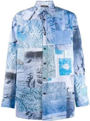Acne Studios map print shirt