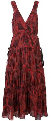 Proenza Schouler pleated neck empire dress