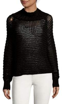 Calvin Klein Collection Open-Knit Turtleneck Sweater