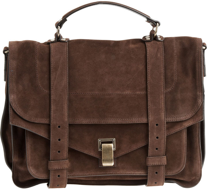Proenza Schouler Large Suede PS1 - Chocolate
