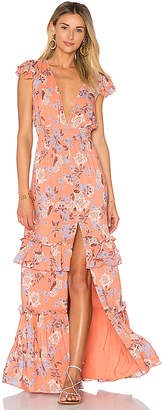 ale by alessandra x REVOLVE Lina Maxi Dress in Orange $228 thestylecure.com