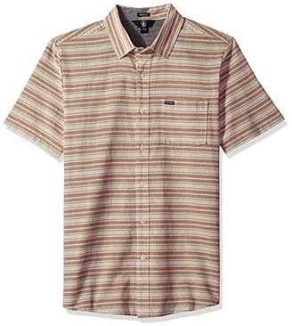 Volcom Men's Sable Short Sleeve Button up Shirt