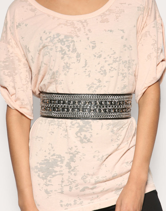 ASOS Chain And Stud Detail Waist Belt