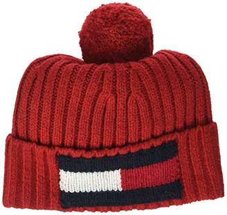 b0ed8862 Tommy Hilfiger Men's's Big Flag Beanie Tommy Red 614, ...