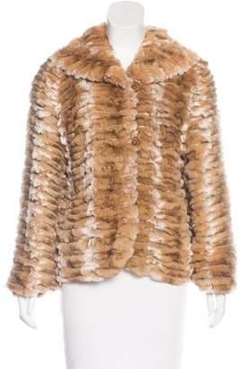 Neiman Marcus Tiered Fur Jacket