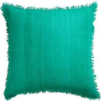 Jonathan Adler Solid Silk Frayed Pillow
