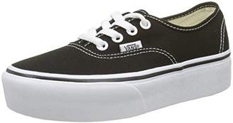 Vans Women's Authentic Platform 2.0 Trainers, (Black Blk), 40.5 EU