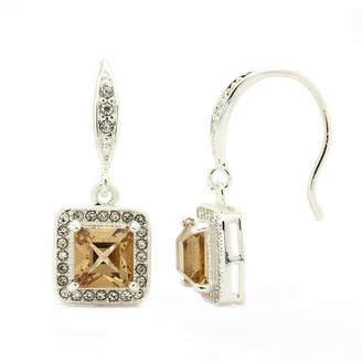 SPARKLE ALLURE Sparkle Allure Brown Stud Earrings
