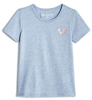 True Religion TODDLER/LITTLE KIDS CRAFTED WITH PRIDE HEATHERED TEE