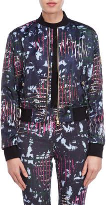 Versace Jagged Baroque Printed Bomber Jacket