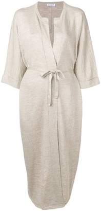 Brunello Cucinelli belted midi dress