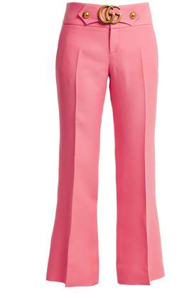 Gucci GG stretch-cady kick-flare trousers