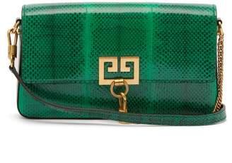 Givenchy Charm Ayers Snakeskin Shoulder Bag - Womens - Green