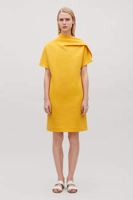 Cos DRAPED-NECK JERSEY DRESS