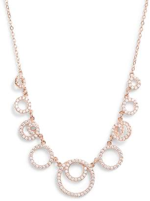 Nordstrom Double Circle Cubic Zirconia Necklace