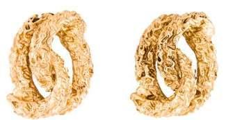 14K Textured Knot Earrings