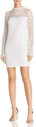 Aqua Geometric Lace Sheath Dress - 100% Exclusive