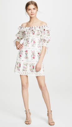 Zimmermann Honour Pintuck Panel Mini Dress