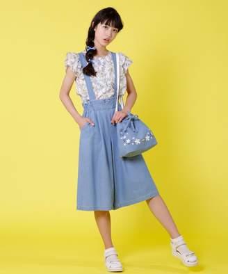 88ff2b3c5cdc0 Kumikyoku (組曲) - 組曲 KIDS  PURETE デニム サスペンダー付きワイドパンツ(