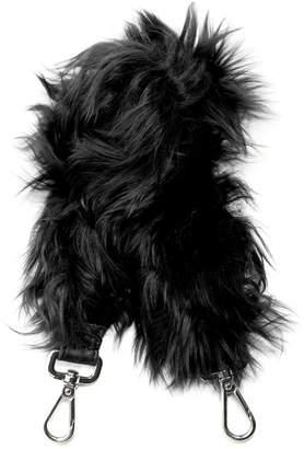 Fendi Strap You alpaca-fur short bag strap