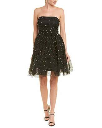 Betsey Johnson Women's Strapless Mutlicolor Pearl Party Dress