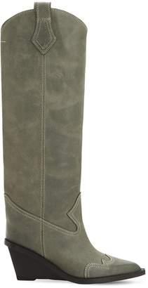 MM6 MAISON MARGIELA 60mm Soft Vintage Leather Cowboy Boots