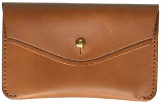 Circa Leathergoods Handcrafted Italian Leather Fold Wallet with Post Closure Cognac