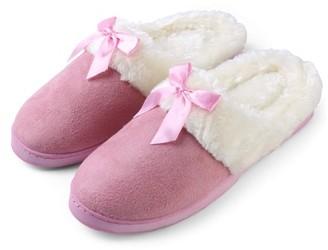 AERUSI Aerusi Edit Bow Scuff Slip-on Indoor Slippers