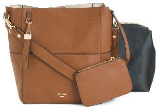 Bucket Bag With Front Slip Pocket
