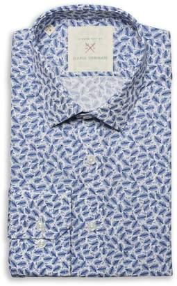 Strong Suit by Ilaria Urbinati Edmond Slim Fit Feather Print Dress Shirt