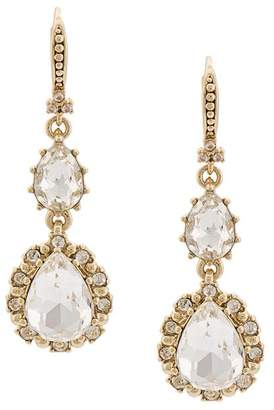Marchesa floral drop pendant earrings