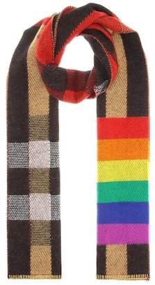 Burberry Rainbow cashmere scarf